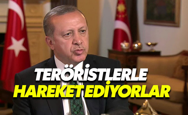 """Erdoğan: """"ABD subayları, teröristlerle hareket ediyor"""""""