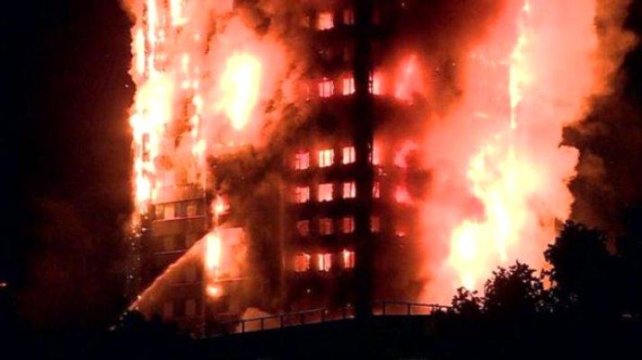 Londra'da 27 katlı binada korkunç yangın