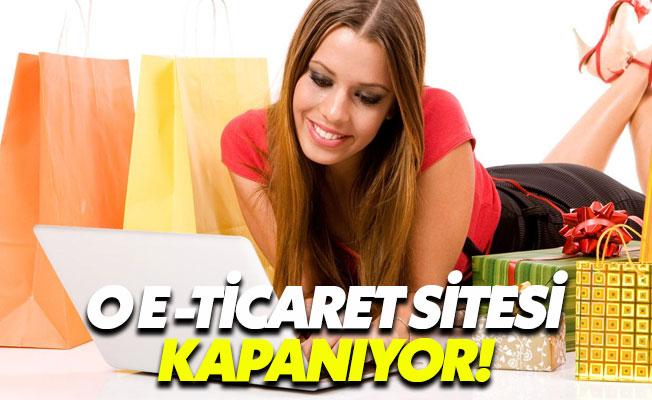 Türkiye'nin en büyük e-ticaret sitesi kapanıyor