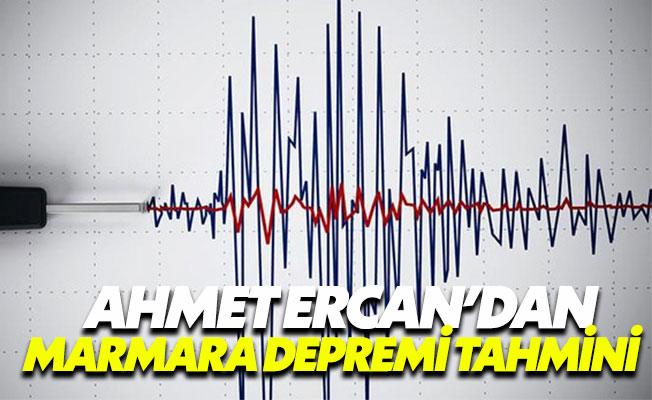 Ahmet Ercan Marmara Depremi için tahminde bulundu