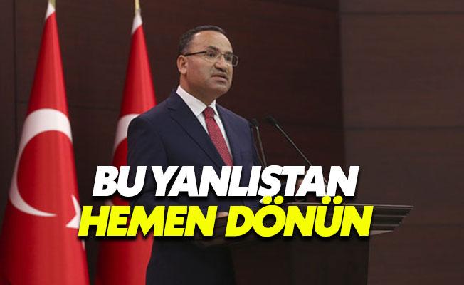 """Bekir Bozdağ'dan Barzani'ye: """"Bu yanlıştan dönün"""""""
