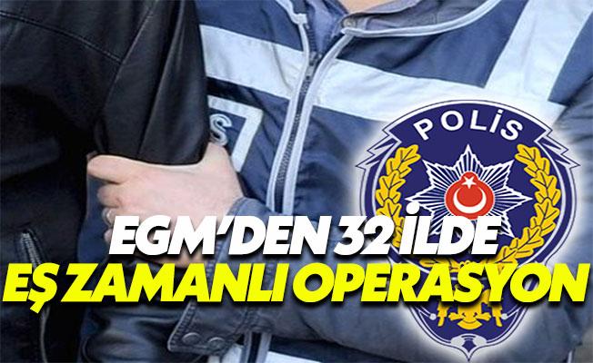 Emniyet'ten 32 İlde Eş Zamanlı FETÖ/PYD Operasyonu
