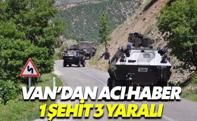 Van'dan acı haber: 1 polis şehit 3 polis yaralı