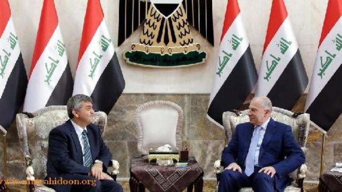 Türkiye'nin Bağdat Büyükelçisi Faruk Kaymakcı, Usame El Nüceyfi ile görüştü