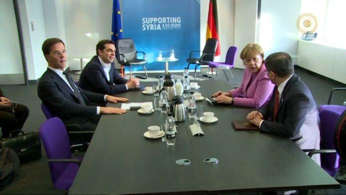 Davutoğlu, liderlerle görüştü
