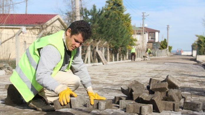 Altınordu'da Parke Yol Çalışması