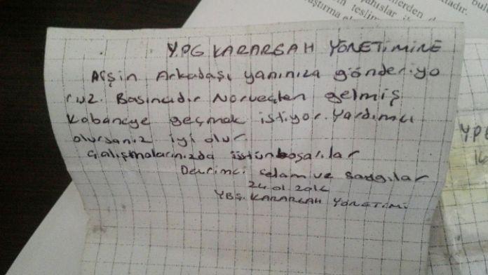 Üzerinden YPG yönetimine not çıktı