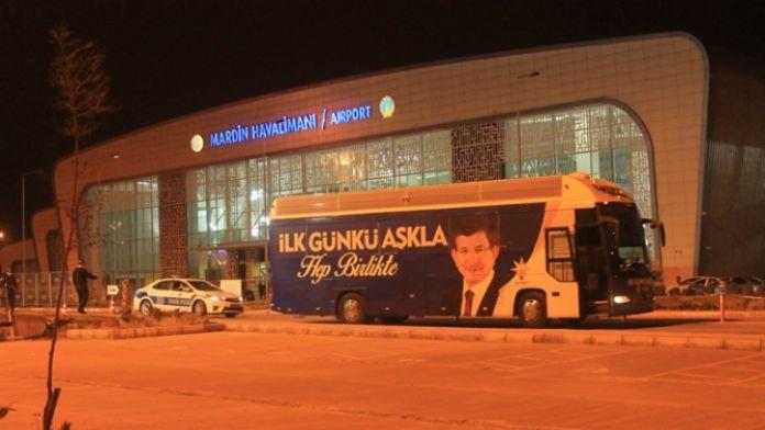 Davutoğlu Mardin'den ayrıldı