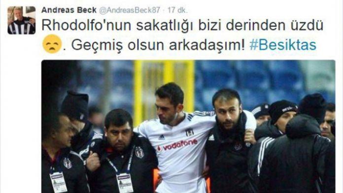 Beck'ten Rhodolfo'ya Türkçe mesaj