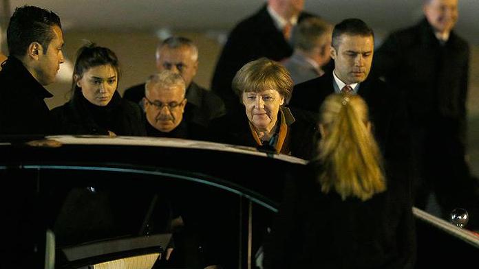 Başbakan  Meerkel Türkiye'de
