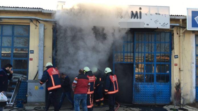 Silivri Sanayi Sitesinde yangın