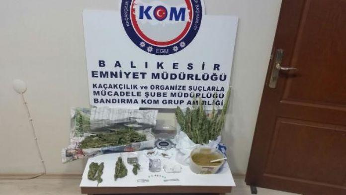 Erdek'te uyuşturucu operasyonu: 6 gözaltı