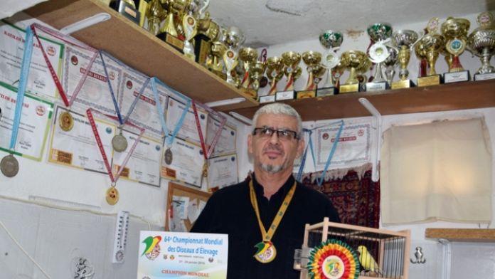 Damızlık Kuşlar Dünya Şampiyonluğu bir Türk'ün