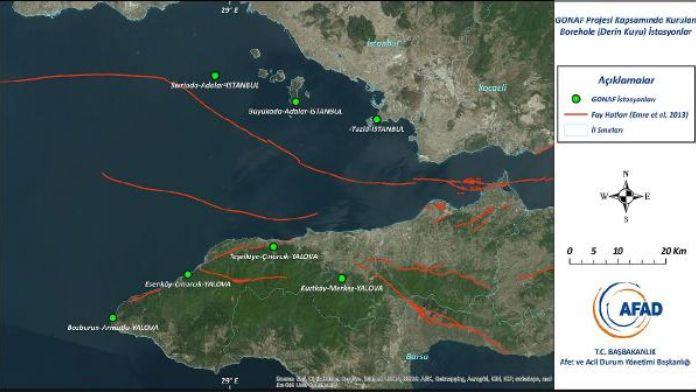 AFAD, Kuzey Anadolu Fayı'nın kalp atışlarını takip ediyor