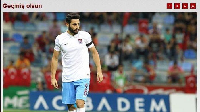 Trabzonspor'dan geçmiş olsun mesajı
