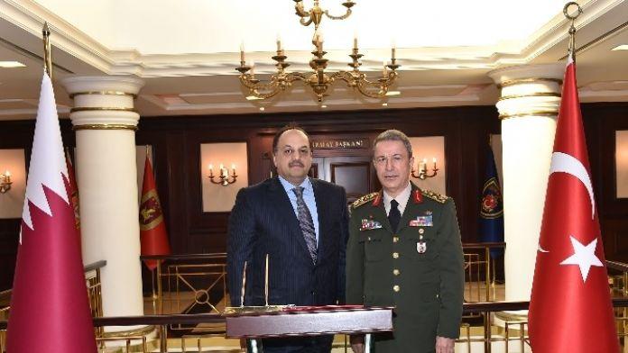 Katar Savunma Bakanı Genelkurmay Karargahı'nda
