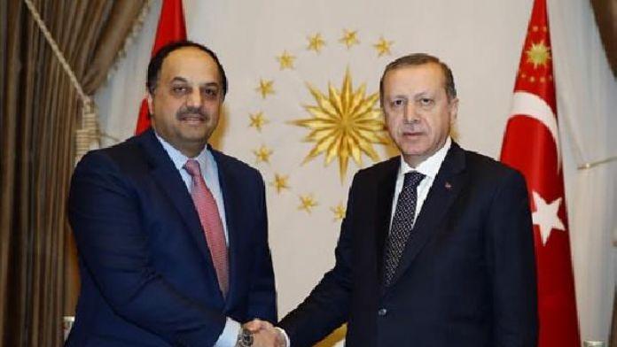 Erdoğan Katar Savunma Bakanı ile biraraya geldi !