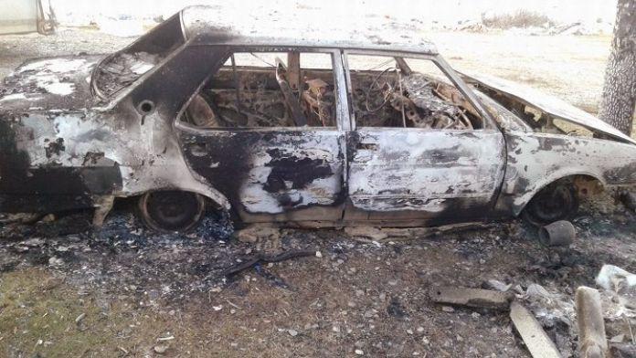 Beyşehir'de Otomobil Yanmış Vaziyette Bulundu