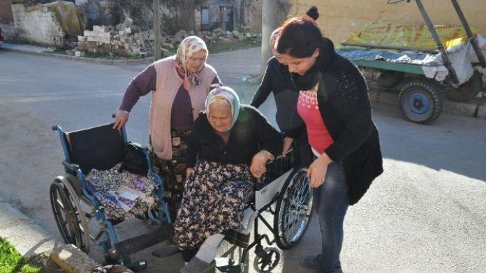 Nazilli'de Hatice Nine Engelli Aracına Kavuştu