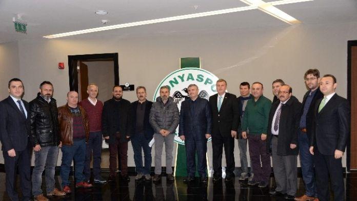 Başkan Akyürek, Torku Konyaspor Yönetim Binasını Ziyaret Etti