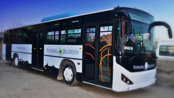 Sungurlu Belediyesi İki Mahalleye Otobüs Seferi Başlattı