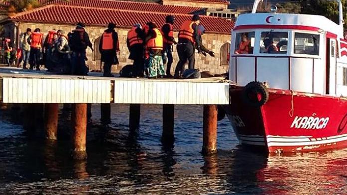 Polis ölüm teknesine geçiş vermedi !