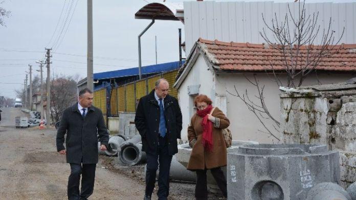 Ergene'deki Kanalizasyon-yağmur Suyu Çalışmaları
