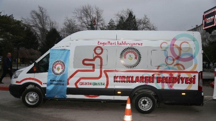 Kırklareli'de Engelli Aracı Hizmete Girdi