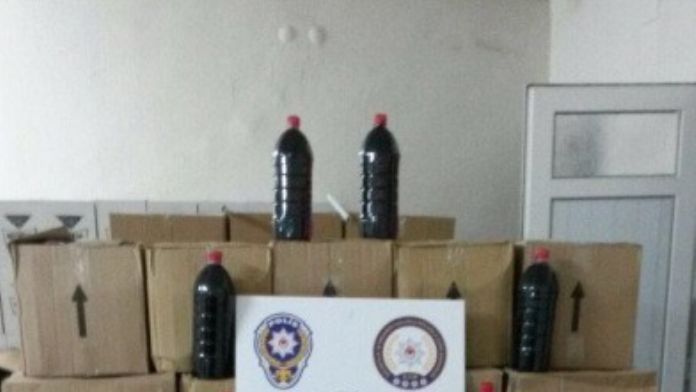 Denizli'de 700 Litre Kaçak Şarap Ele Geçirildi