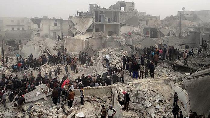 'Halep'i biz değil ABD bombaladı'