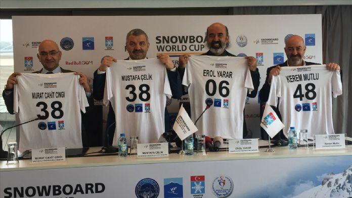 Dünyanın en iyi snowboardcuları Erciyes'te buluşacak