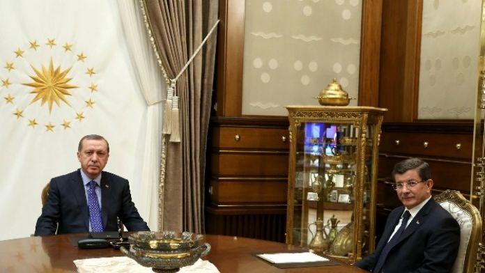 Başbakan Davutoğlu Cumhurbaşkanlığı Külliyesi'nde