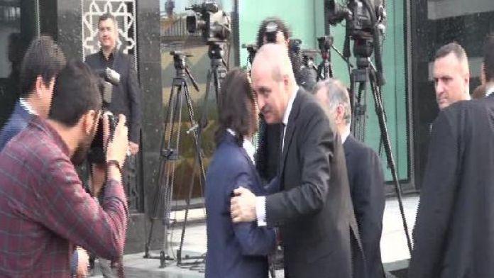 Numan Kurtulmuş'tan Yeni Şafak Gazetesi'ne geçmiş olsun ziyareti