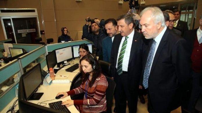 Başkan Saraçoğlu, Acil Çağrı Merkezi'ni Ziyaret Etti