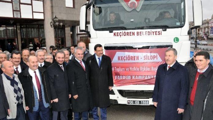Keçiören Belediyesi Silopi'ye Yardım Tır'ı Gönderdi