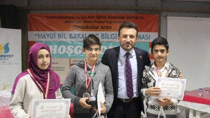 Çumra'da 'Haydi Bil Bakalım' Bilgi Yarışmasının Galibi Belli Oldu