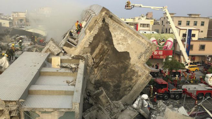 Tayvan'daki depremde ölü sayısı yükseldid