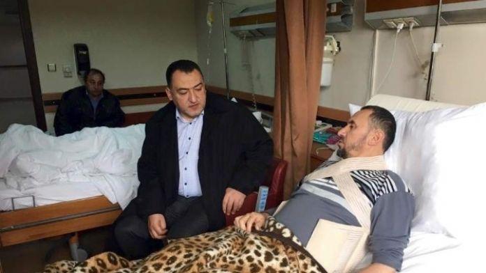 Milletvekili Şükrü Nazlı'dan Halil Kurt'a 'Geçmiş Olsun' Ziyareti