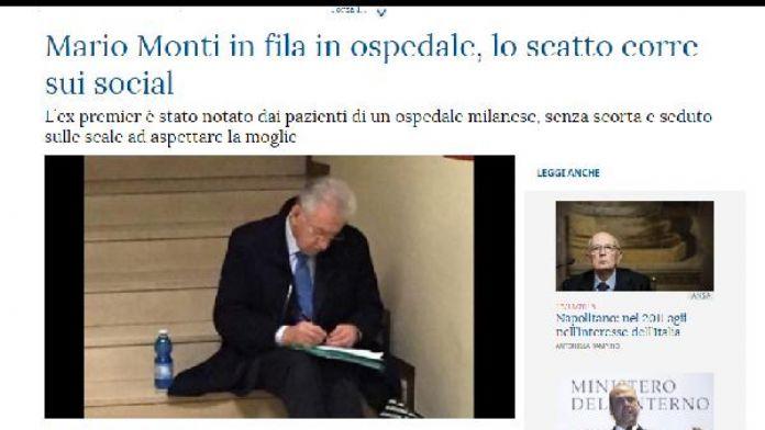 İtalya, eski başbakan Monti'nin merdivenlerde otururken çekilen fotoğrafını konuşuyor