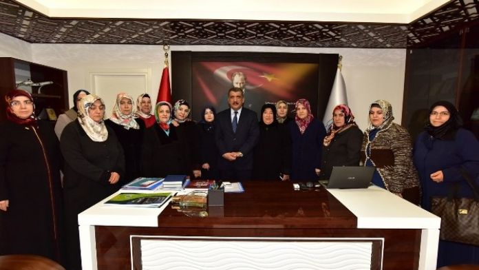 Halk Eğitim Merkezi Kursiyerlerinden Gürkan'a Ziyaret