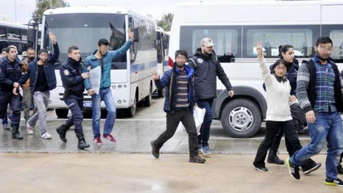 Antalya'daki PKK operasyonunda 17 kişi tutuklandı