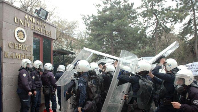 Ankara Üniversitesinde gerginlik: 15 gözaltı