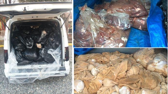 Diyarbakır'da kaçak hayvansal ürünlerle mücadele