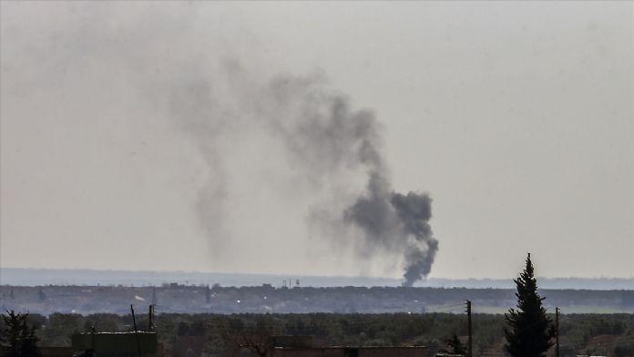 Azez'e hava saldırısı