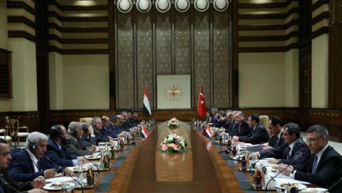 Cumhurbaşkanı Erdoğan, Yemen Cumhurbaşkanı Hadi'yi kabul etti