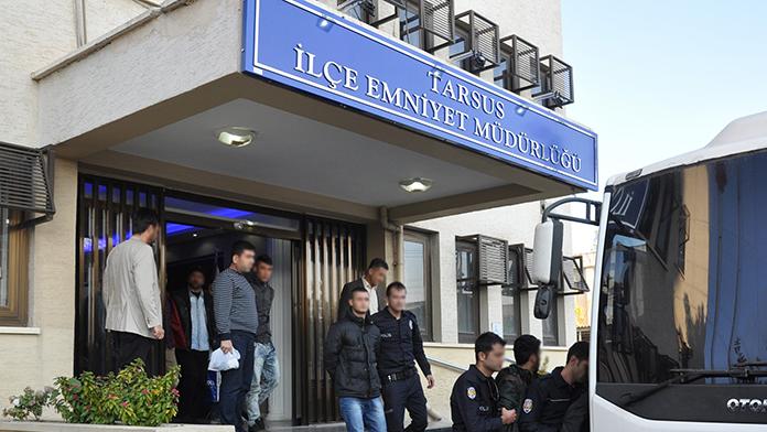 Tarsus'ta terör operasyonuna 19 tutuklama