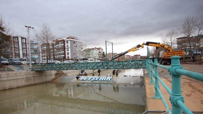 Beyşehir Belediyesi'nden 'Kanalda Şelale' Projesi