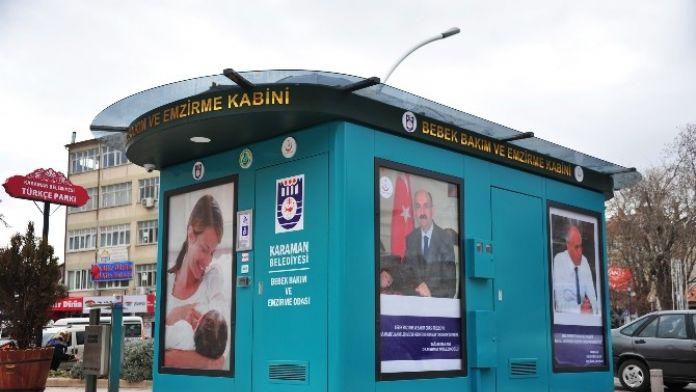 Karaman'da Anneler İçin Emzirme Ve Bebek Bakım Kabini