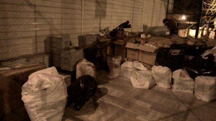 Bandırma'da 90 bin paket kaçak sigara ele geçirildi