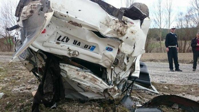 Tavşanlı-harmancık Karayolu'nda Trafik Kazası: 2 Yaralı